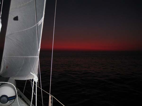 sailing by night to Elba